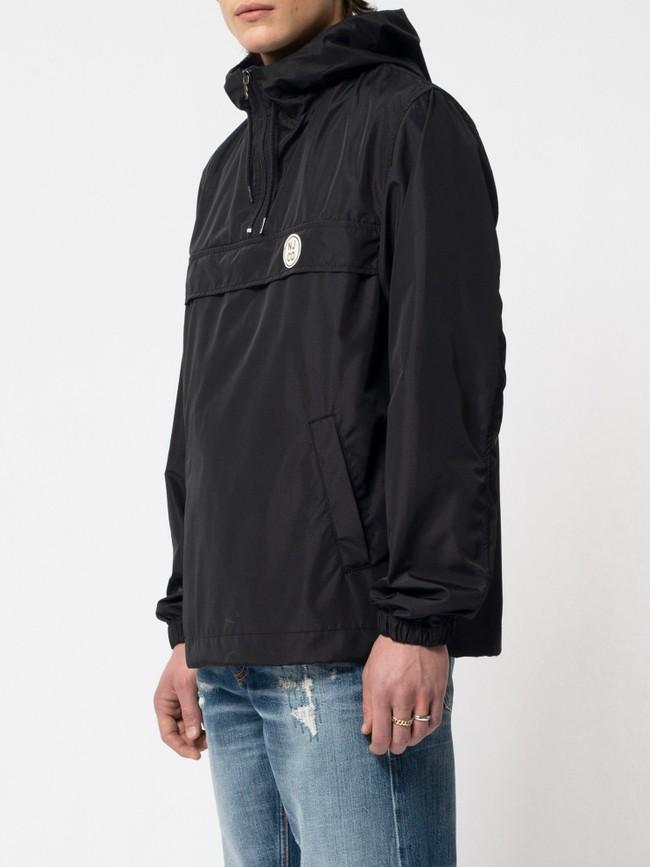 Anorak pull over noir en matières recyclées - buster - Nudie Jeans num 1