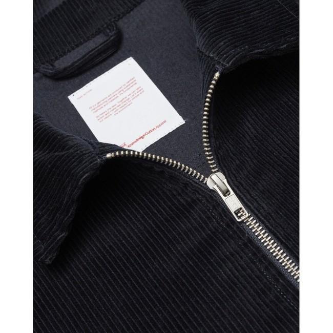 Veste marine velours en coton bio - Knowledge Cotton Apparel num 1