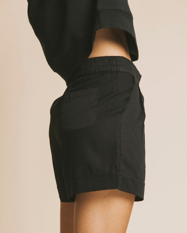 Short noir en coton bio - mamma - Thinking Mu num 1