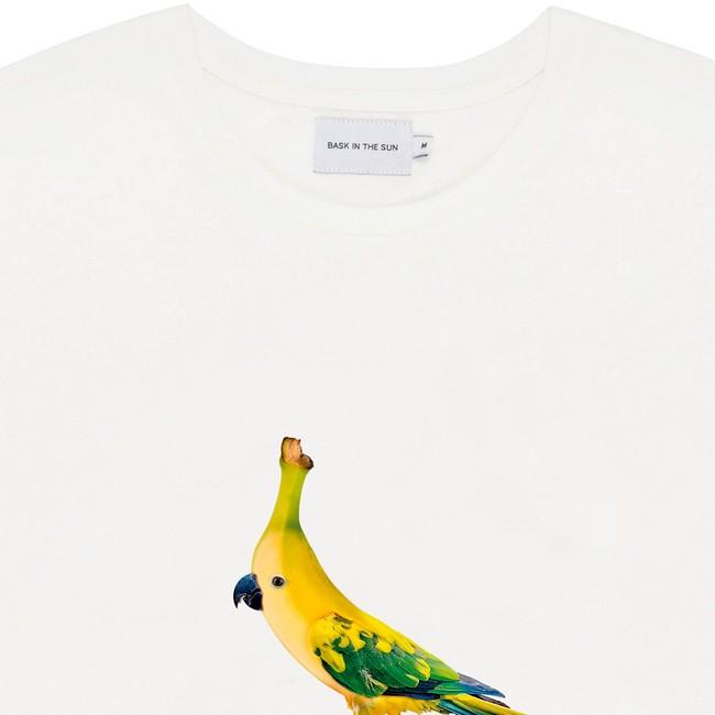 T-shirt white banana bird - Bask in the Sun num 1