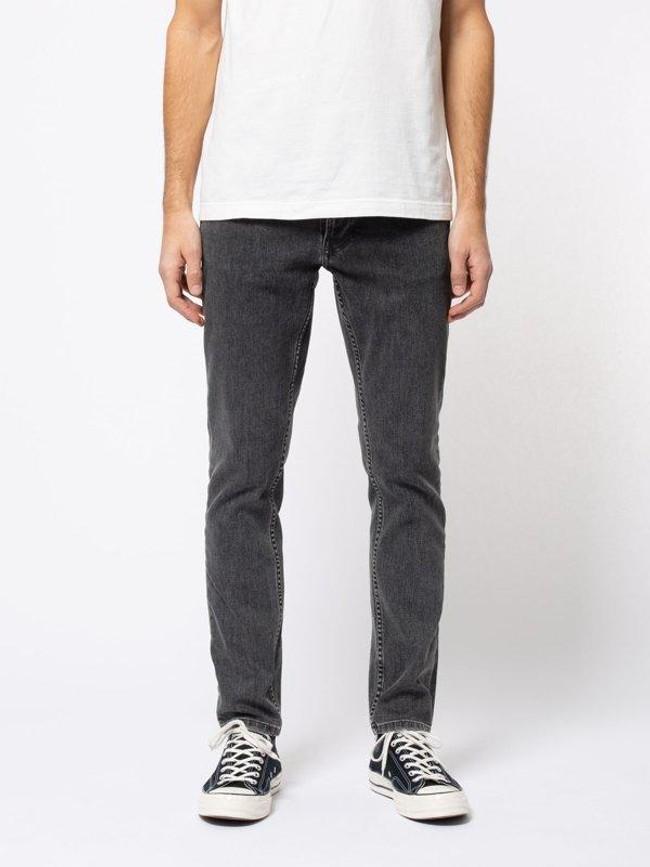 Jean slim gris en coton bio - lean dean grey stardust - Nudie Jeans