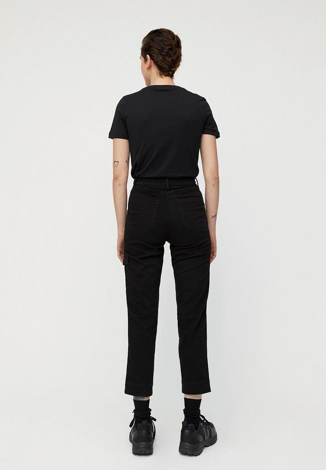 Pantalon cargo noir en coton bio - virginiaa - Armedangels num 1