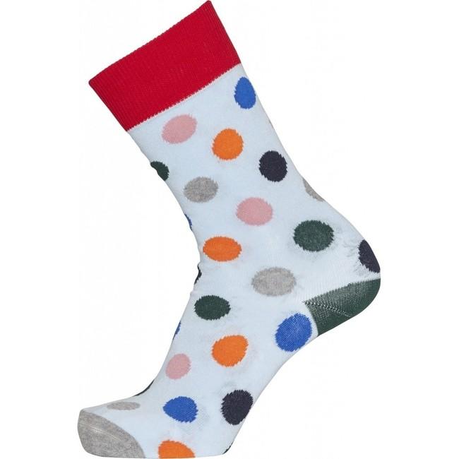 Pack 2 paires de chaussettes à pois et bleu nuit en coton bio - timber - Knowledge Cotton Apparel num 1