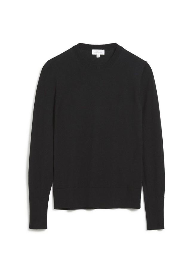 Pull noir en tencel et coton bio - aalice - Armedangels num 4