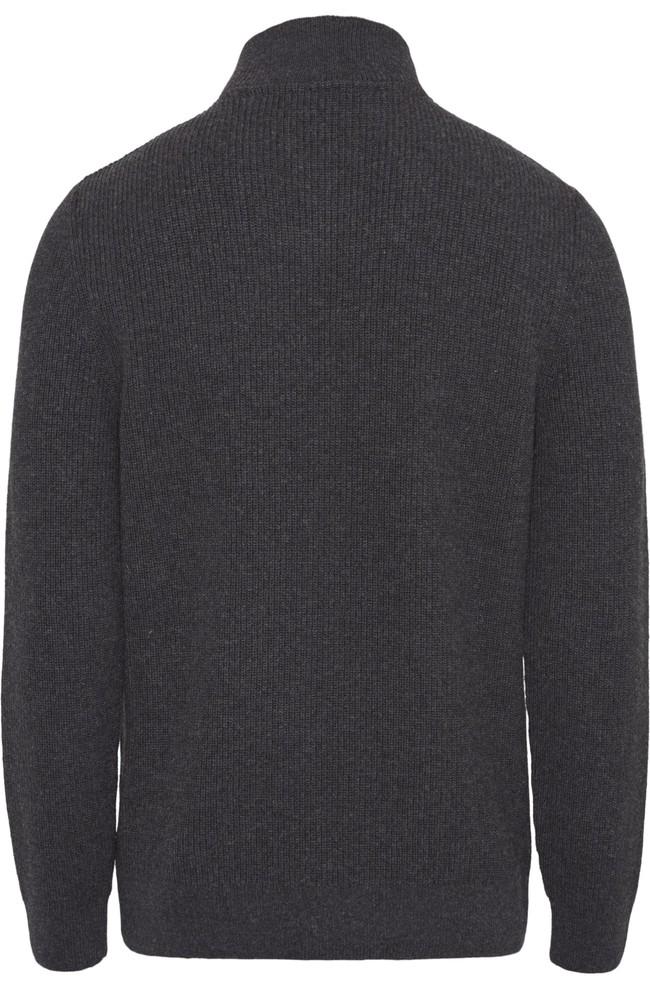 Pull col zippé gris en coton bio et laine bio - valley - Knowledge Cotton Apparel num 1