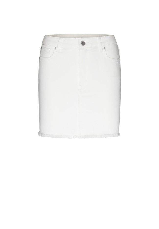 Jupe en jean blanc en coton bio - liaara - Armedangels num 4