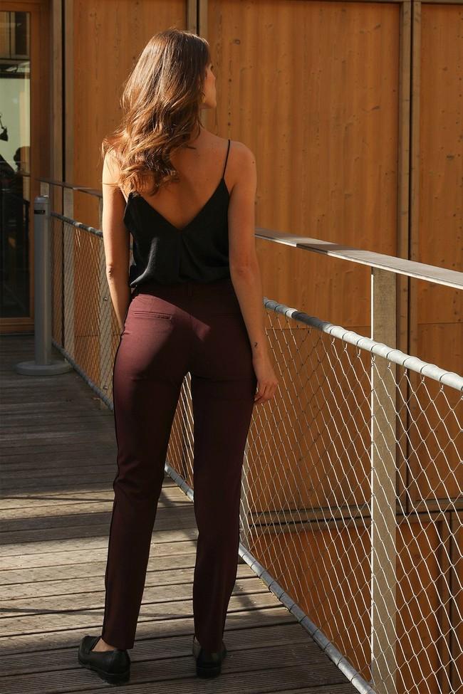 Pantalon tailleur new-york prune - 17h10 num 1