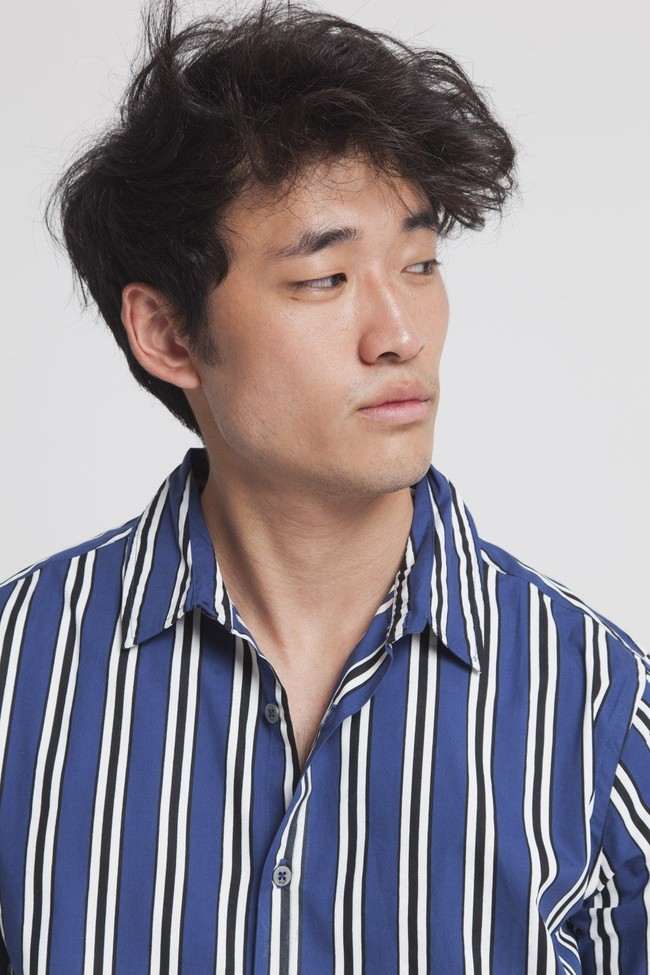 Chemise manches courtes rayée en coton bio - tom - Thinking Mu num 3