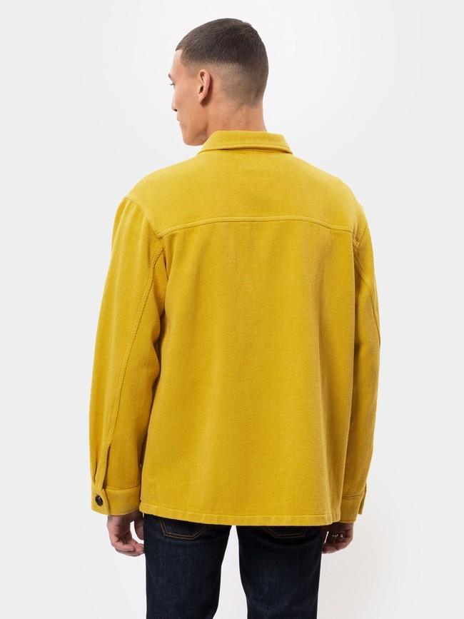 Surchemise jaune twill en coton bio - elias - Nudie Jeans num 3