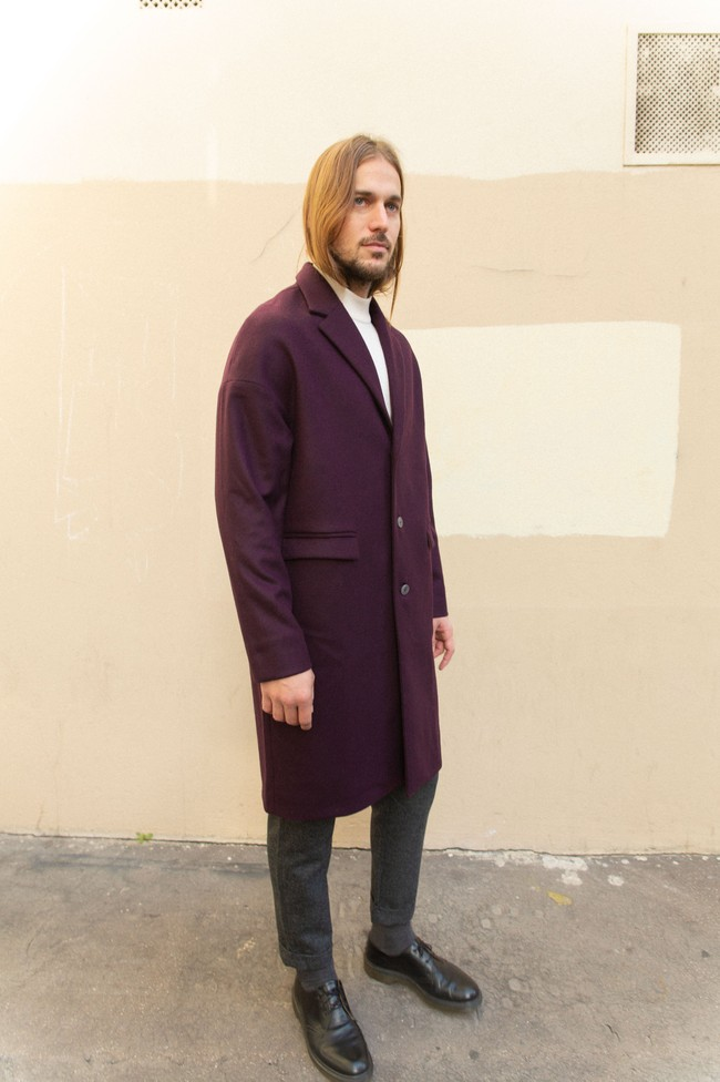 Manteau genoa laine & cachemire - Noyoco num 12