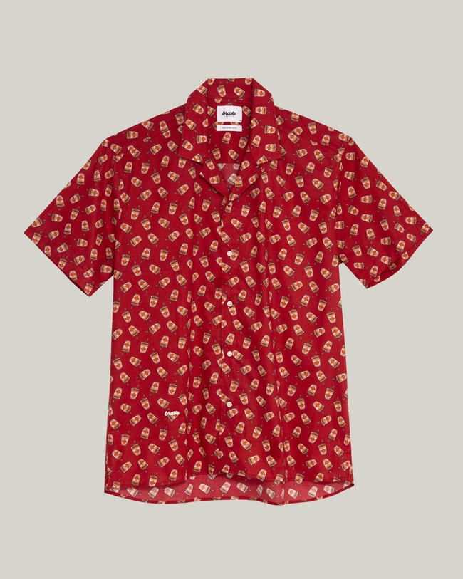 Curry to go printed shirt - Brava Fabrics num 1