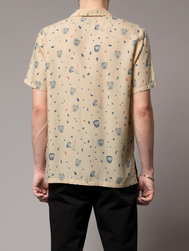 Chemise manches courtes à motifs en coton bio - arvid misfit - Nudie Jeans num 2