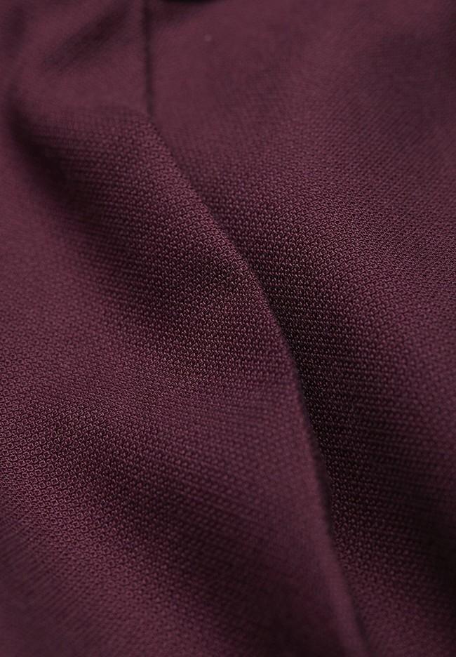 Pantalon à pinces bordeaux en coton bio - herttaa - Armedangels num 4