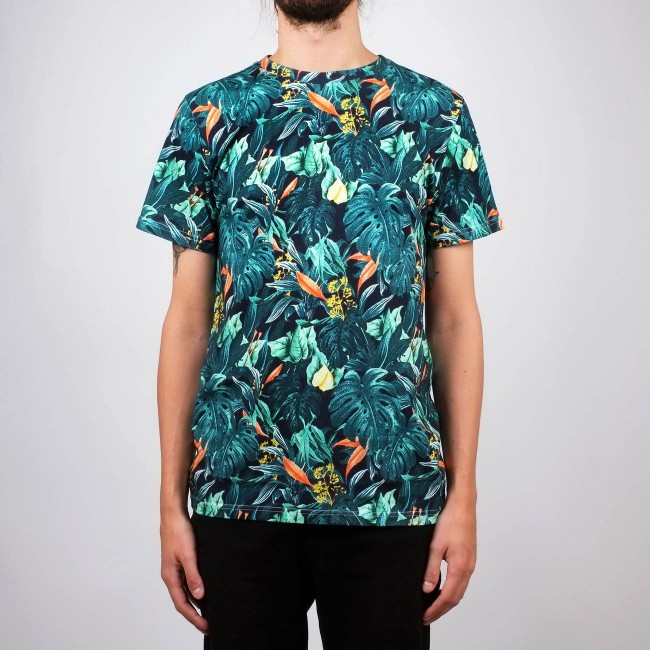 T-shirt motif jungle en coton bio - Dedicated num 1