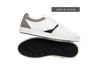 Chaussure en glencoe cuir blanc / suède gris clair - Oth - 1