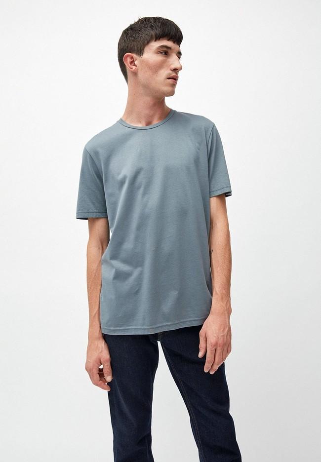 T-shirt bleu en coton bio - jaames - Armedangels
