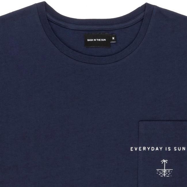 T-shirt en coton bio navy sun day - Bask in the Sun num 1