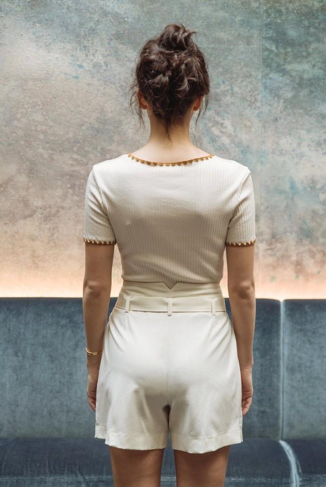 Short tailleur rome ivoire - 17h10 num 2