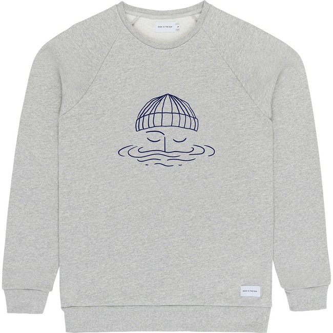 Sweat en coton bio grey sailor - Bask in the Sun num 0