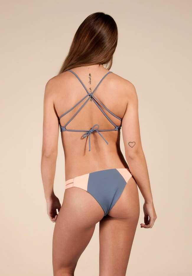 Haut de bikini bleu recyclé - soller - Ocealah num 1
