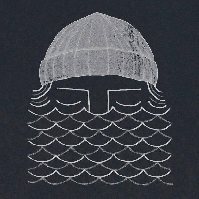 T-shirt en coton bio black to the sea - Bask in the Sun num 1