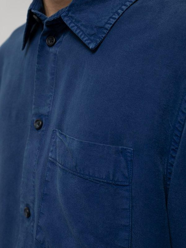 Chemise bleue en twill  - chuck smooth - Nudie Jeans num 2