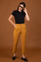 Pantalon tailleur casablanca jaune safran - 17h10 num 3