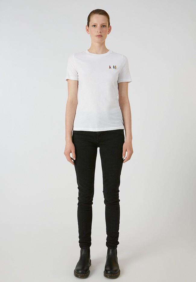 T-shirt blanc en coton bio - lidaa girls - Armedangels num 2