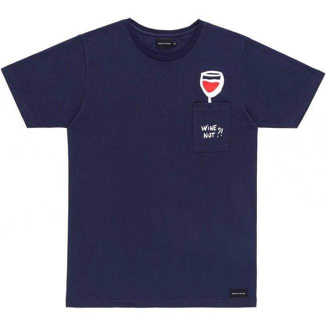 T-shirt en coton bio navy wine - Bask in the Sun