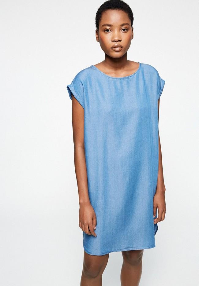 Robe bleue en coton bio - hilaa - Armedangels