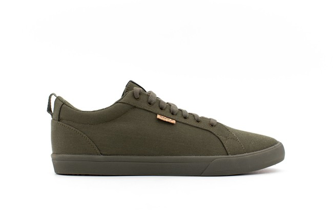 Chaussures recyclées cannon dark olive homme - Saola