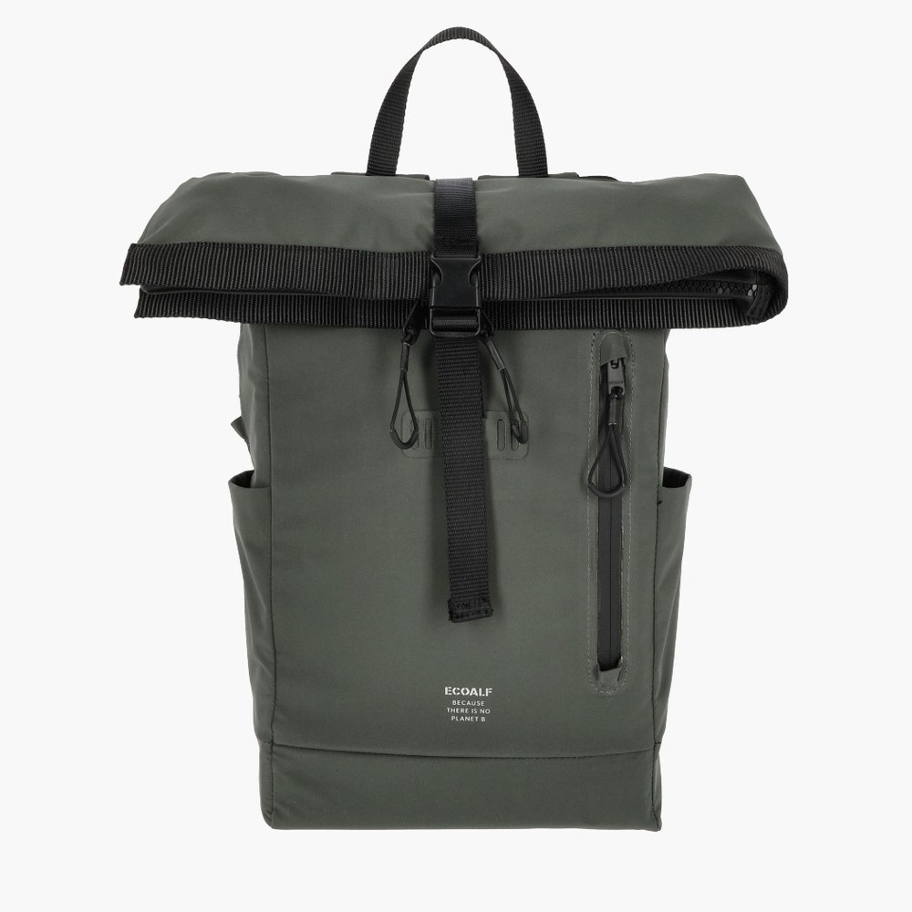 Sac à dos roll top recyclé kaki - skopie - Ecoalf