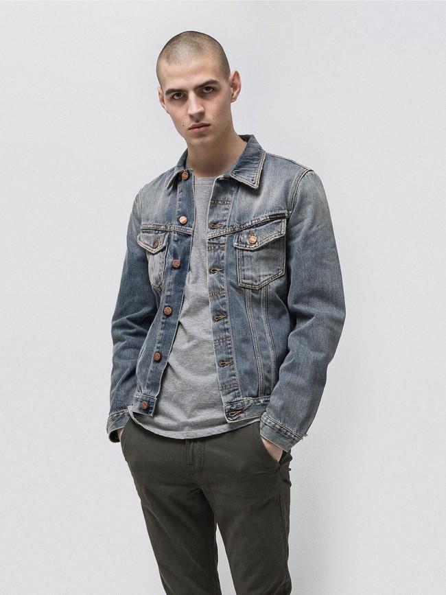 Veste en jean coton bio - billy shimmering - Nudie Jeans num 2