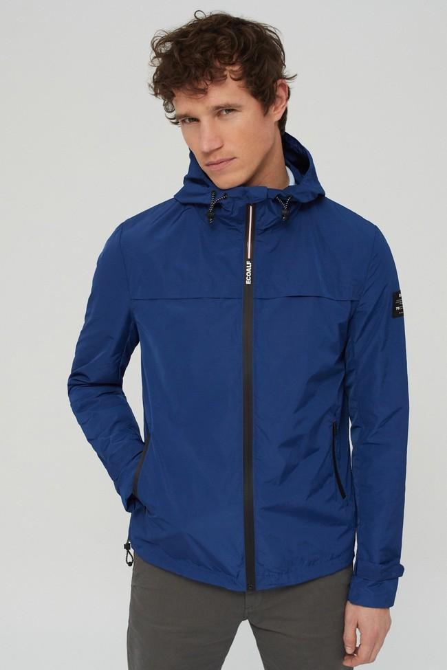 Veste déperlante bleue en polyester recyclé et sorona - dalven nautic - Ecoalf