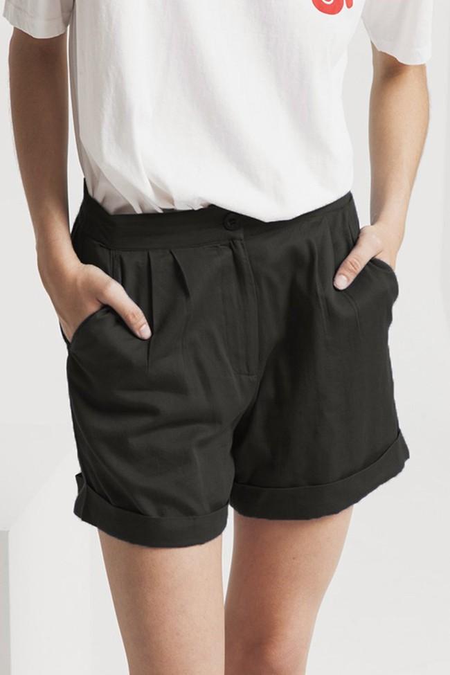 Short uni noir en coton bio - mamma - Thinking Mu