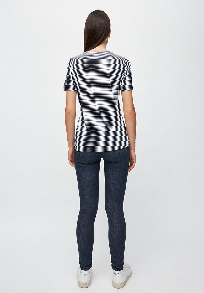 T-shirt rayures bleu marine en coton bio - lidaa - Armedangels num 3