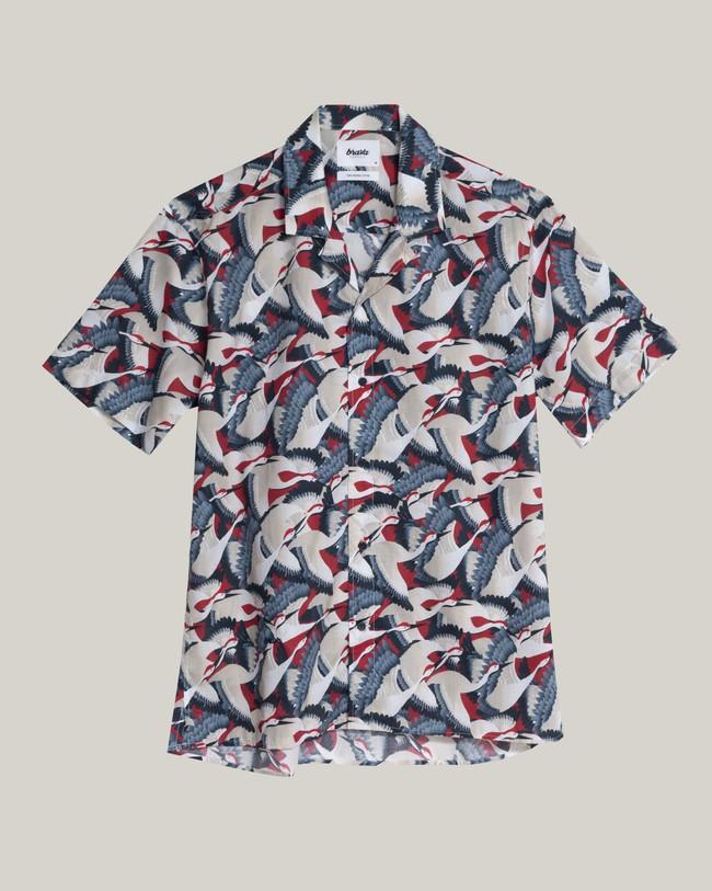 Crane for luck aloha shirt - Brava Fabrics num 1