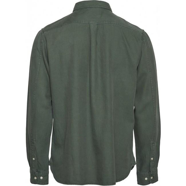 Chemise vert forêt en tencel et coton bio - larch - Knowledge Cotton Apparel num 1