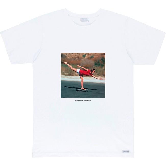 T-shirt en coton bio white ellen - Bask in the Sun