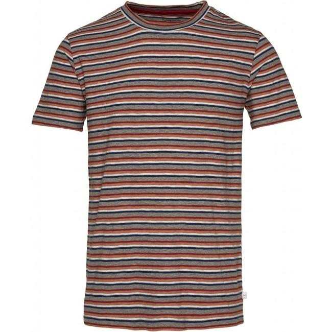 T-shirt rayé multicolore en coton bio - alder - Knowledge Cotton Apparel