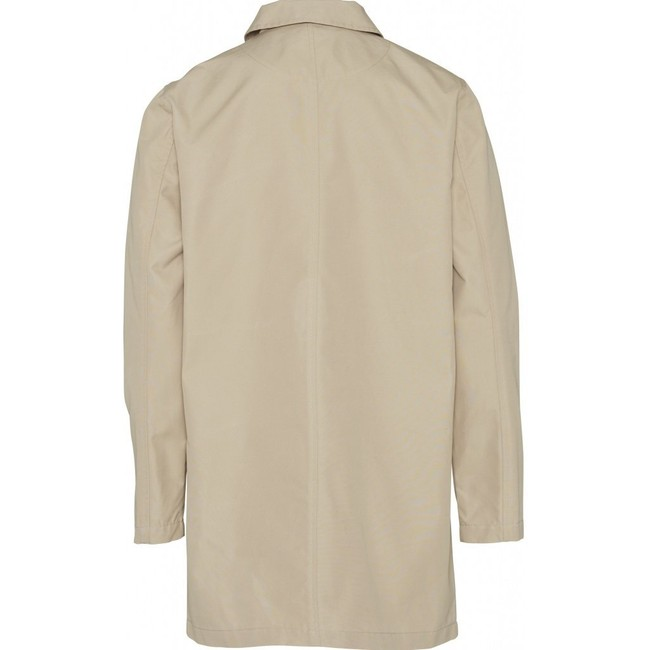 Manteau long écru en coton bio et nylon recyclé - Knowledge Cotton Apparel num 1