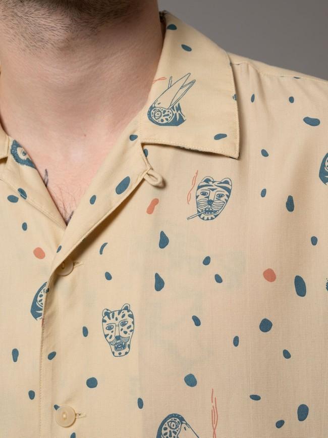 Chemise manches courtes à motifs en coton bio - arvid misfit - Nudie Jeans num 6