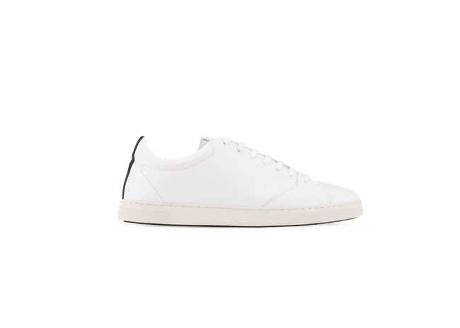 Chaussure en gravière cuir blanc / semelle off-white - Oth num 3