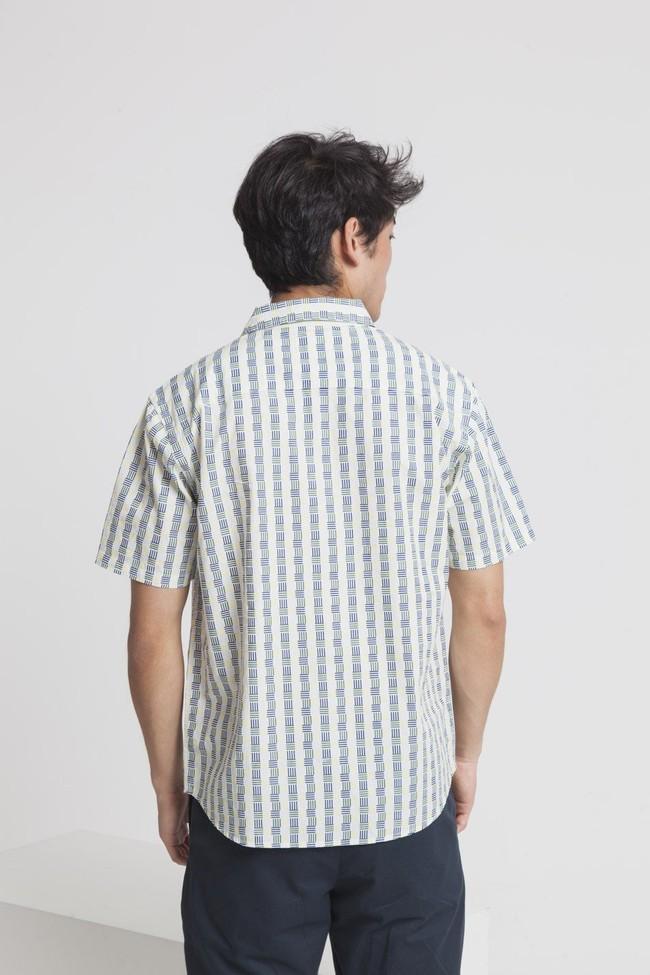 Chemise manches courtes imprimé blanc en coton bio - tom - Thinking Mu num 1