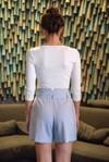 Short tailleur rome bleu pastel - 17h10 - 4