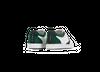 Chaussure en glencoe cuir blanc / suède sapin - O.T.A - 3