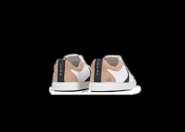 Chaussure en glencoe cuir blanc / suède nude - Oth num 2