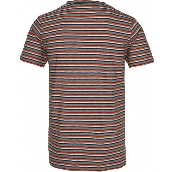 T-shirt rayé multicolore en coton bio - alder - Knowledge Cotton Apparel num 1