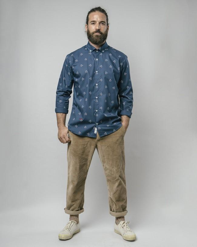 Sumo boy navy printed shirt - Brava Fabrics num 3