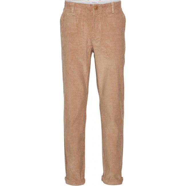 Chino velours marron en coton bio - Knowledge Cotton Apparel